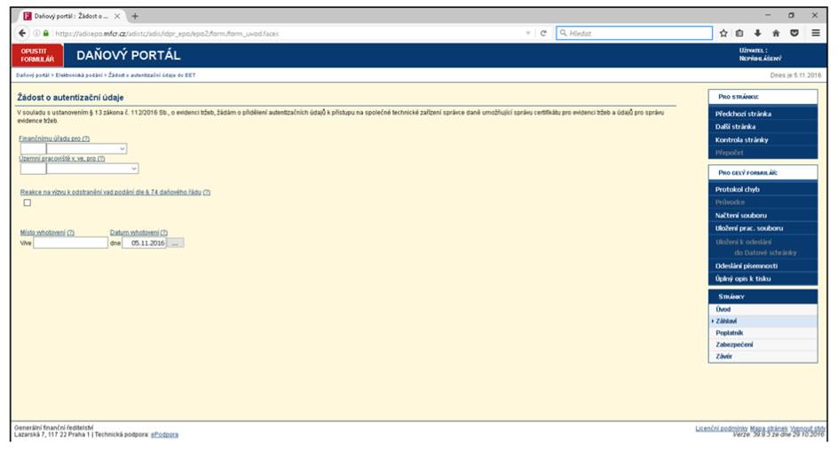 screenshot-eet-danovy-portal-zadost-o-autentizacni-udaje