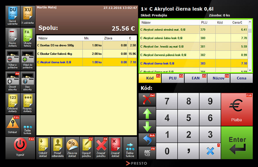 screenshot-registracna-pokladnica-rychla-tvorba-dokladu