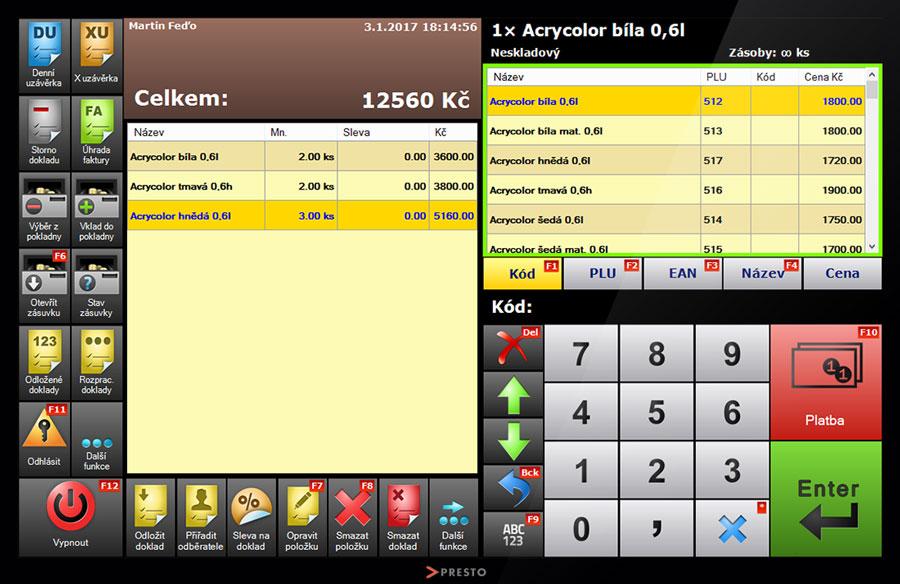 screenshot-registracni-pokladna-rychla-tvorba-dokladu